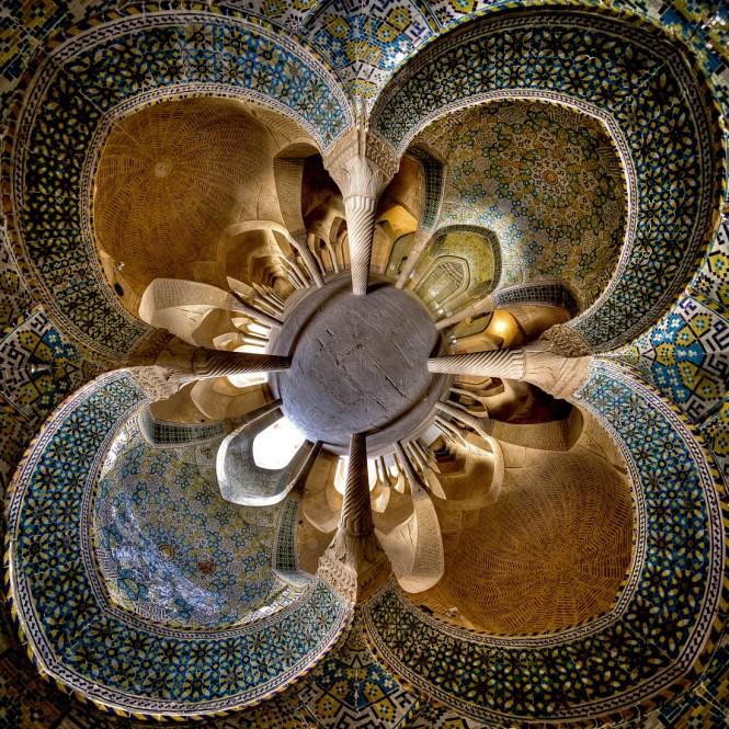 Vakil mosque- Shiraz ( little planet view)2